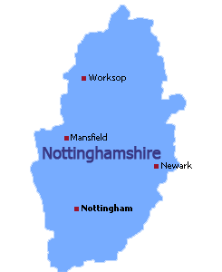 Nottinghamshire-map